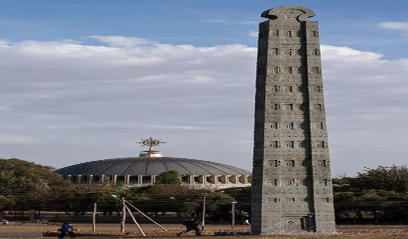 Aksum  Ethiopia.carved obelisks and biblical Ark of the Covenant